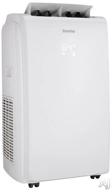 Danby DPA140HEAUWDB 14,000 BTU Portable Air Conditioner with Dehumidifier Mode, Reuseable Air Filter, Heater Option, 24 Hour Timer, Auto Restart, Auto Swing, 3 Speed Fan and Integrated Handles