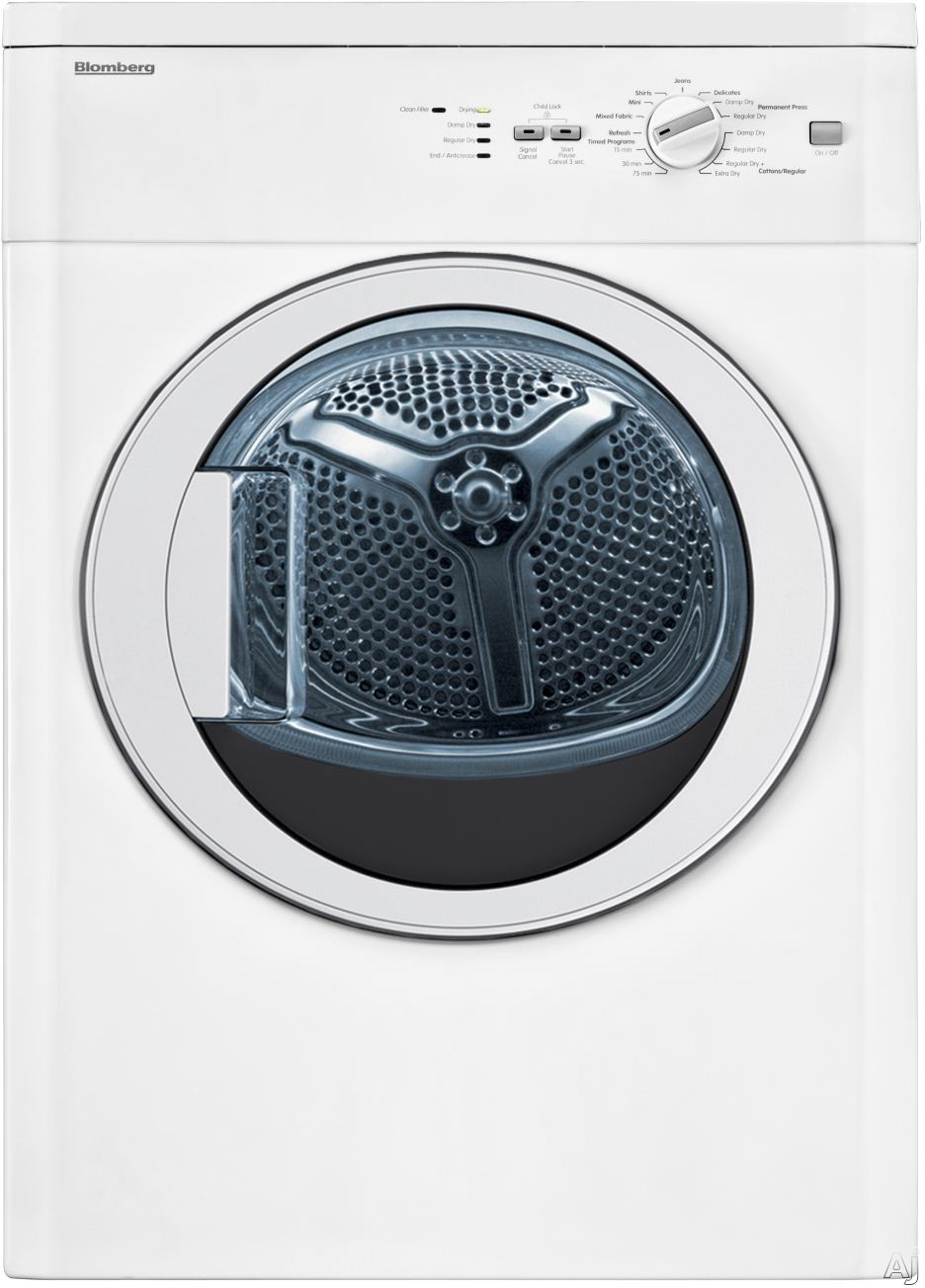 Blomberg DV17542 24 Inch Electric Dryer with Sensor Drying ENERGY STAR Clean Filter Light 16 Cycles and 3.67 cu. ft. Stainless Steel Drum