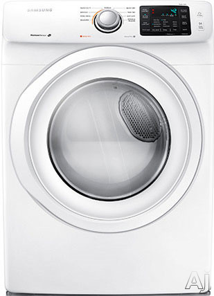 Image of Samsung DV42H5000EW 27 Inch 7.5 cu. ft. Electric Dryer with 9 Dry Cycles, 4 Temperature Settings, Wrinkle Prevent, Smart Care, Lint Filter Indicator, Reversible Door and Sensor Dry Moisture Sensor
