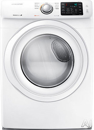 Image of Samsung DV42H5000GW 27 Inch 7.5 cu. ft. Gas Dryer with 9 Dry Cycles, 4 Temperature Settings, Wrinkle Prevent, Smart Care, Lint Filter Indicator, Reversible Door and Sensor Dry Moisture Sensor