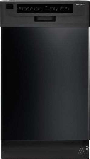 Frigidaire FFBD1821MB 18 Inch Full Console Dishwasher with Energy Saver, High Temperature Wash, China Crystal Cycle, Stainless Steel Tub, 6 Wash Cycles, 4 Wash Levels, dBA 55 Sound Rating, Delay Start