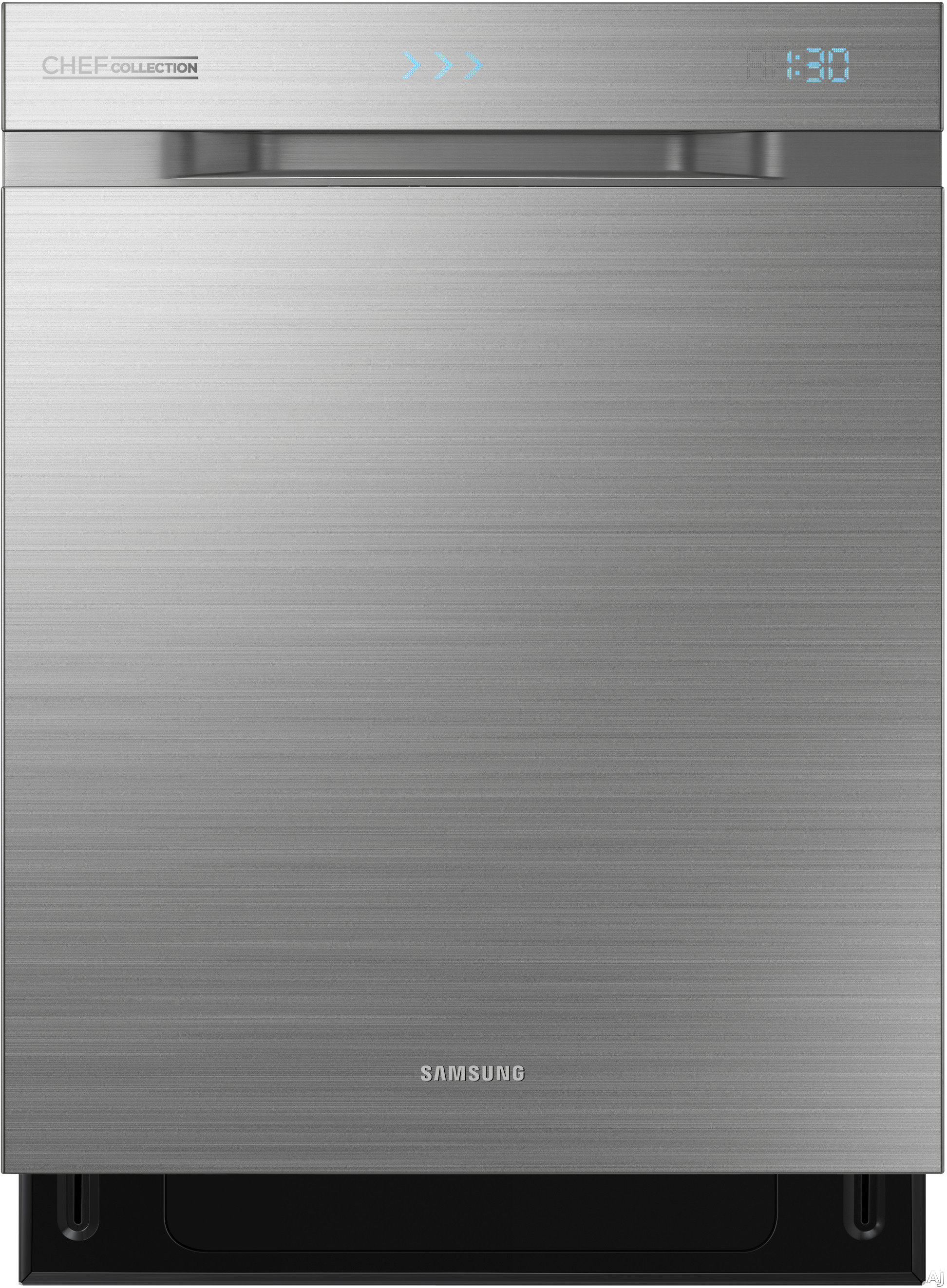 Samsung Chef Collection DW80H9970US Fully Integrated Dishwasher with 15 Place Settings 6 Cycles 6 Options Express Cycle Hidden Heat Element WaterWall System Zone Boost Third Rack with FlexTray Star Display and 40 dBA