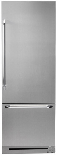 Dacor Discovery DYF30BFB 30 Inch Fully Integrated Bottom-Freezer with 15.5 cu. ft. Capacity, GlideShelf, FlushFit Design, BeadBlast Finish, Dual Evaporator Cooling, Glass Touch Control Panel, Bottom Compressor, Ice Maker with Max Cool/Ice and Sabbath Mode