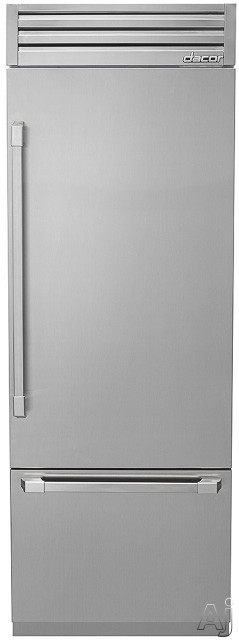 Dacor Discovery DYF30BFT 30 Inch Fully Integrated Bottom-Freezer with 15.5 cu. ft. Capacity, Dual Evaporator Cooling, Glass Touch Control Panel, SoftShut Drawers,GlideShelf, FlushFit Design, BeadBlast Finish, Top Compressor and Ice Maker with Max Cool/Ice