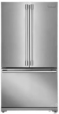 Electrolux ICON Professional E23BC69SPS 36 Inch Counter Depth French Door Refrigerator with Smooth-Glide® Crispers, Custom Temp Drawer™, 2 Gallon Door Bins, PureAdvantage® Filtration, Alarm System, Twice the Ice, Wine Rack, 22.3 cu. ft. Capacity, Stark-K® Certified Sabbath Mode and ENERGY