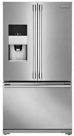 Electrolux ICON Professional E23BC79SPS 36 Inch Counter Depth French Door Refrigerator with Wave-Touch® Controls, Smooth-Glide® Crispers, Custom Temp Drawer™, Custom-Design™ Organization, PureAdvantage® Filtration, Alarm System, Twice the Ice, Stark-K® Certified Sabbath Mode and ENERGY