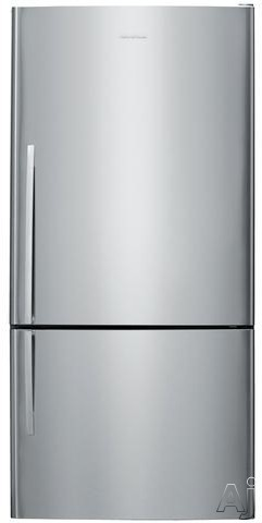 Fisher and Paykel Active Smart E522B5 31 Inch Bottom Freezer with 176 cu ft Capacity 4 Adjustable Glass Shelves Gallon Door Storage Humidity Controlled Crispers Independent Temperature Control ActiveSmart Technology LED Lighting and ENERGY STAR