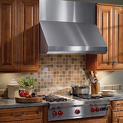Broan Elite E60000 Series E60E Pro-Style Wall-Mount Canopy Range Hood with Multiple Blower Options, Variable Speed Control, Heat Sentry and Dishwasher-Safe Baffle Filters