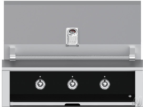 """Hestan Aspire EAB36LPBK 36 Inch Built-In Grill with Stainless Tubular Burners, Halogen Interior Lighting, Warming Rack, Marquiseâ""""¢ Accents, LED Lit Controls, Stainless Steel Drip Tray and Zamak D"""