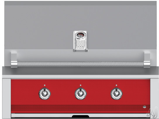 """Hestan Aspire EAB36LPRD 36 Inch Built-In Grill with Stainless Tubular Burners, Halogen Interior Lighting, Warming Rack, Marquiseâ""""¢ Accents, LED Lit Controls, Stainless Steel Drip Tray and Zamak D"""