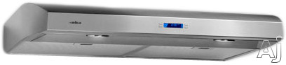 Elica Aspire Bellagio Series EBL436SS 36 Inch Bellagio Under Cabinet Range Hood with 400 CFM Internal Blower 4 Speed Touch Controls LCD Display and Halogen Lamps Stainless Steel