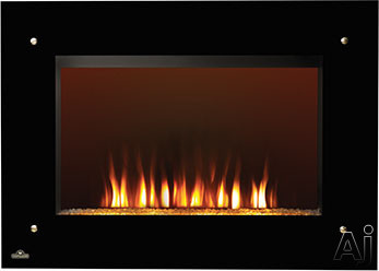 Napoleon Tranquille Series EF39S 39 Inch Indoor Electric Fireplace with Crystaline Ember Bed, Glass Front, Remote Control, Easy Installation and Heater Option: no Heater