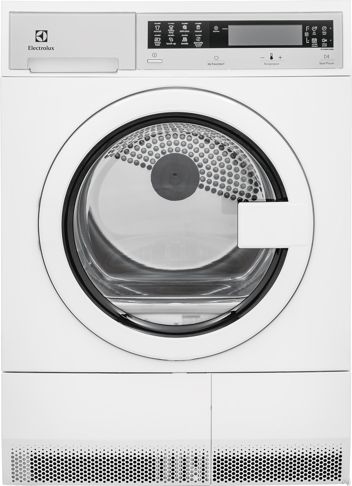 "Electrolux EFDE210TI 24 Inch Ventless Electric Dryer with IQ-Touch Controlsâ""¢, Fast Dry, My Favorite Cycle, Reverse Tumble, Stainless Steel Tub, Interior Lighting, Reversible Door, 7 Cycles and 4.0 cu. ft. Capacity"