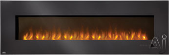 Napoleon Slimline Series EFL72H 72 Inch Indoor Electric Fireplace with 5,000 BTU Heating Power, Remote Control, Touch Screen Electronic Control Panel and Paintable Cord Cover EFL72H