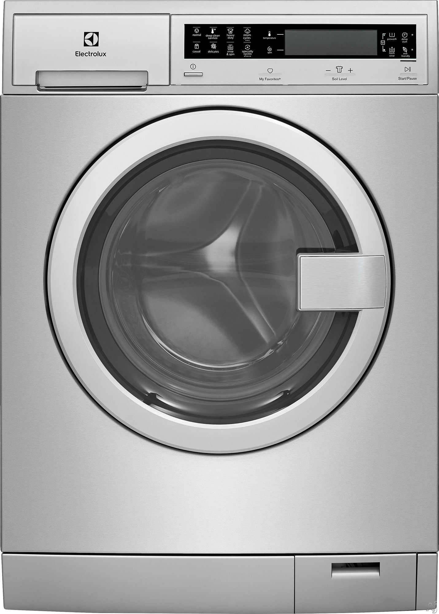 Electrolux EFLS210TIS 24 Inch Front Load Washer with Perfect Steam™, ExpertCare™ Wash, IQ-Touch™ Controls, Fast Wash, Sanitized, Luxury-Quiet™, Automatic Water Adjustment, Perfect Balance System®, 14 Cycles, 2.4 cu. ft. and Energy Star® Rated: