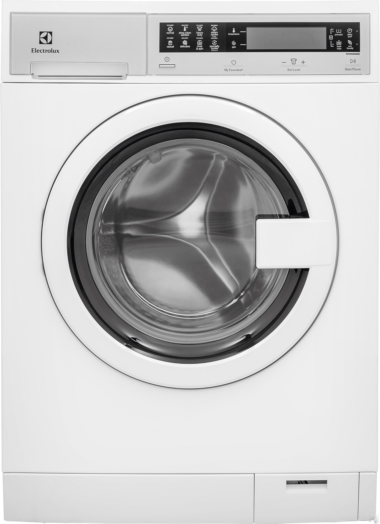 Electrolux EFLS210TI 24 Inch Front Load Washer with Perfect Steam™, ExpertCare™ Wash, IQ-Touch™ Controls, Fast Wash, Sanitized, Luxury-Quiet™, Automatic Water Adjustment, Perfect Balance System®, 14 Cycles, 2.4 cu. ft. and Energy Star® Rated