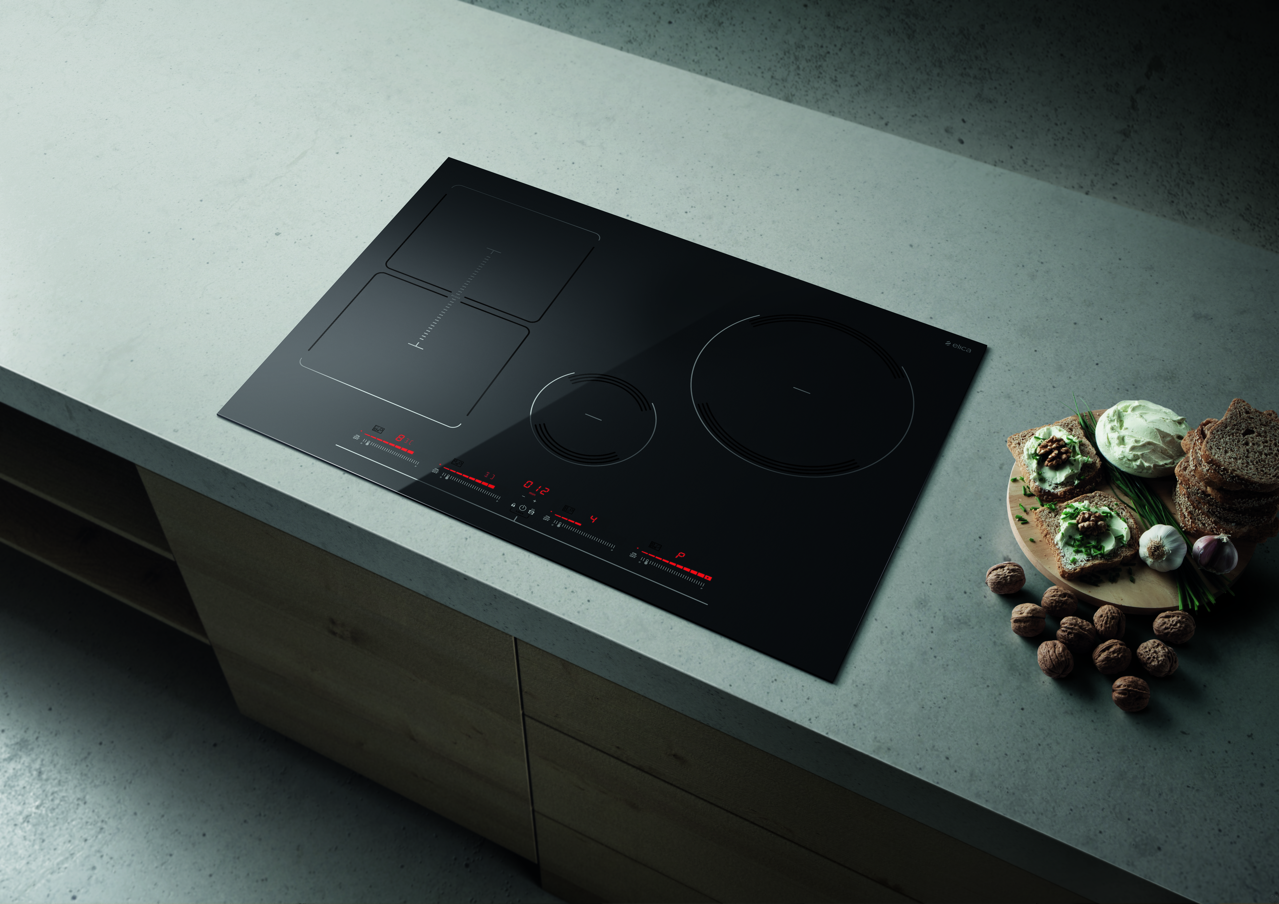 Elica EGL430BL 30 Inch Induction Cooktop with Stream Technology, Temperature Manager, Cold Surface, Child Lock Timer, Pot Detector, Bridge Zones and Stop and Go