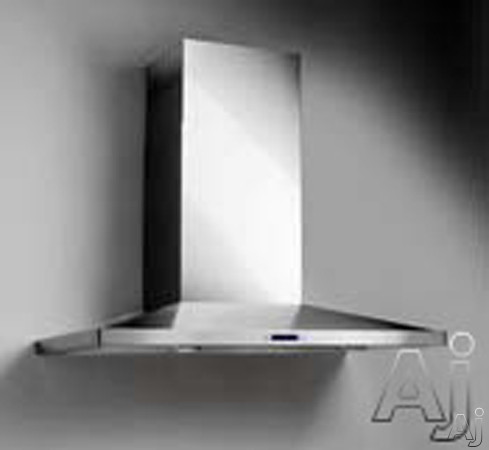 Elica Lugano Series ELG6 Pro-Style Wall Mount Chimney Hood with 600 CFM Internal Blower, 4-Speed Touch Controls, LCD Display, Halogen Lamps and Telescopic Chimney Extension ELG6