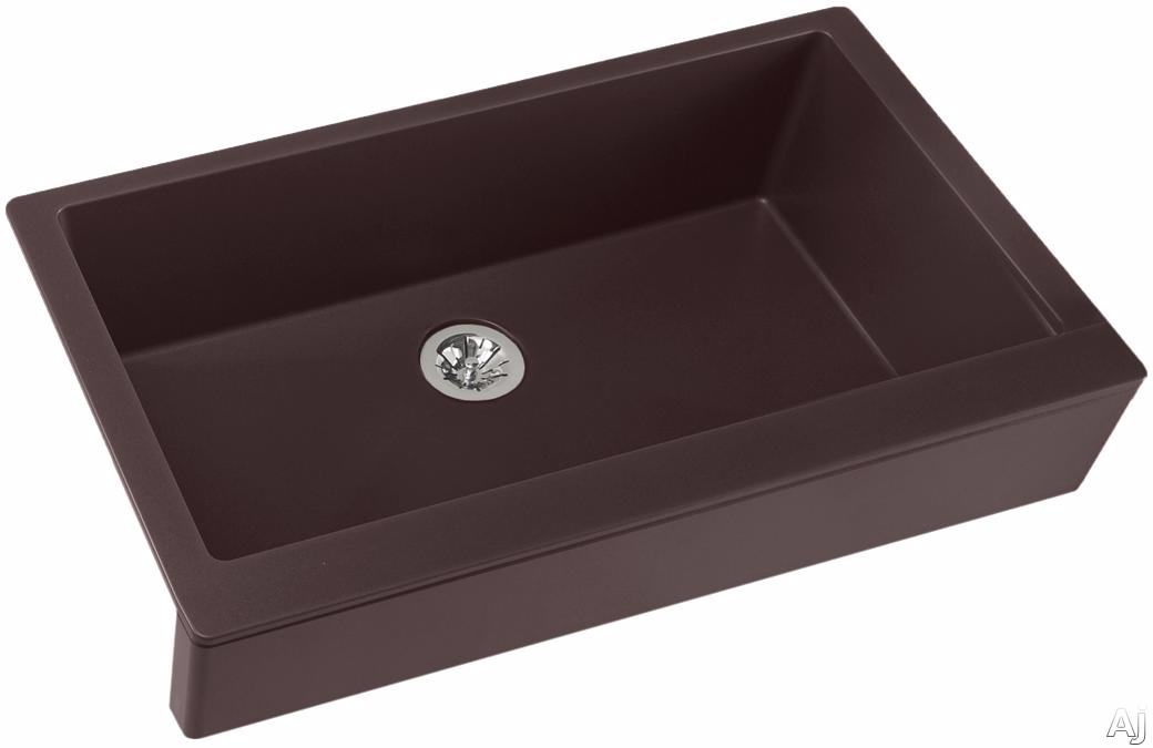 Elkay Quartz Luxe ELXUFP3620CN0 36 Inch Quartz Luxe Farmhouse Kitchen Sink with Perfect Drain, Superior Strength and Farmhouse Design: Chestnut