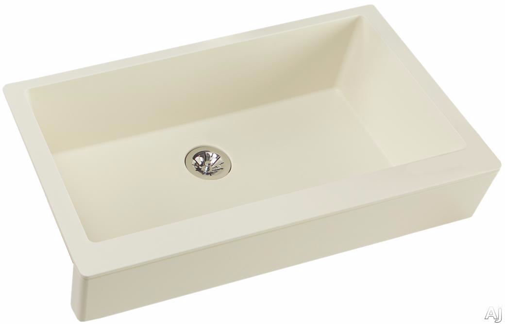 Elkay Quartz Luxe ELXUFP3620PA0 36 Inch Quartz Luxe Farmhouse Kitchen Sink with Perfect Drain, Superior Strength and Farmhouse Design: Parchment