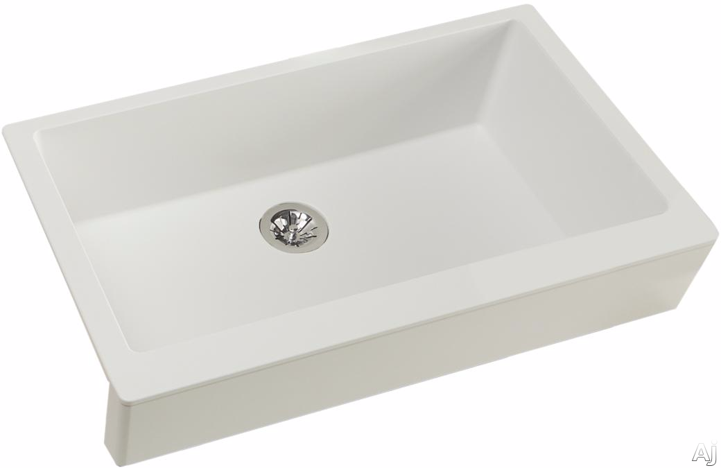 Elkay Quartz Luxe ELXUFP3620RT0 36 Inch Quartz Luxe Farmhouse Kitchen Sink with Perfect Drain, Superior Strength and Farmhouse Design: Ricotta