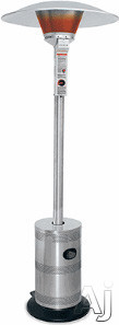 Blue Rhino Commercial Series ES4000COMM 92 Inch Tall Commercial Outdoor Patio Heater with 40,000 BTU, 20 ft. Diameter Heating Area, Multi-Spark Electronic Ignition and Ceramic Cone Insulator
