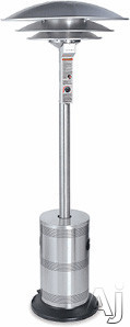 Blue Rhino Commercial Series ES5000COMM 92 Inch Tall Commercial Outdoor Patio Heater with 40,000 BTU, 20 ft. Diameter Heating Area, Multi-Spark Electronic Ignition and Unique Triple Dome Design