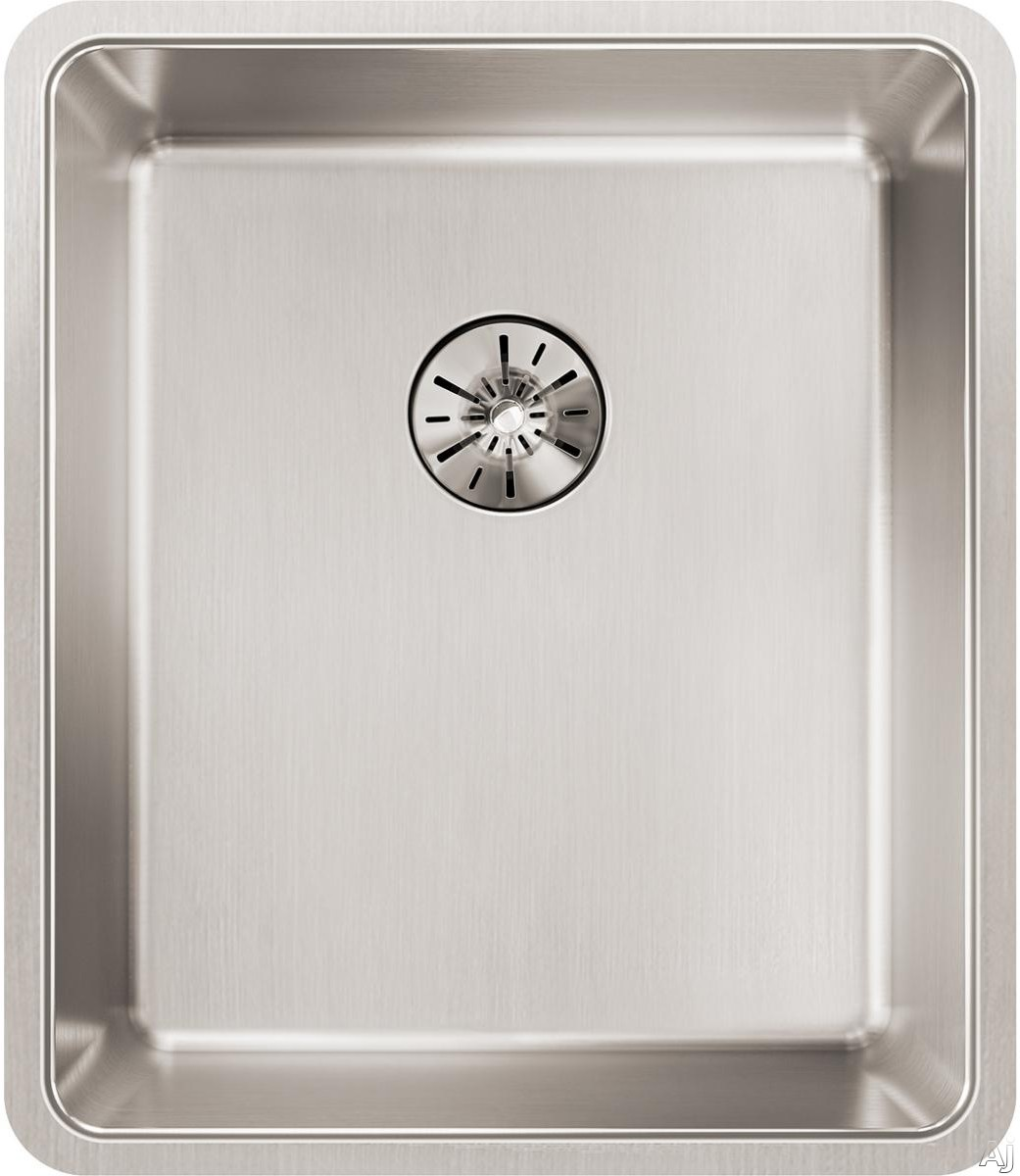 Elkay Lustertone Collection ETRU13168PD 16 Inch Iconix Single Bowl Kitchen Sink and Perfect Drain with 16-Gauge Stainless Steel, Sound Deadening Pads and Perfect Drain