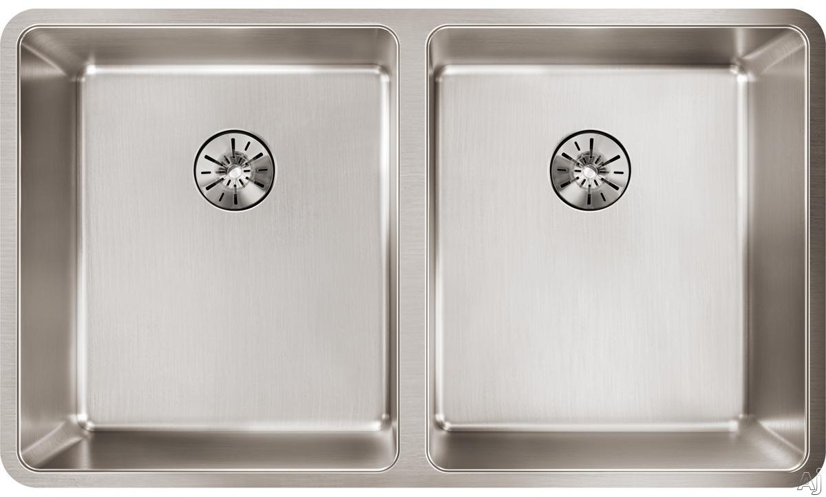 Elkay Lustertone Collection ETRU31189PD 32 Inch Iconix Double Bowl Kitchen Sink and Perfect Drain with 16-Gauge Stainless Steel, Sound Deadening Pads and Perfect Drain