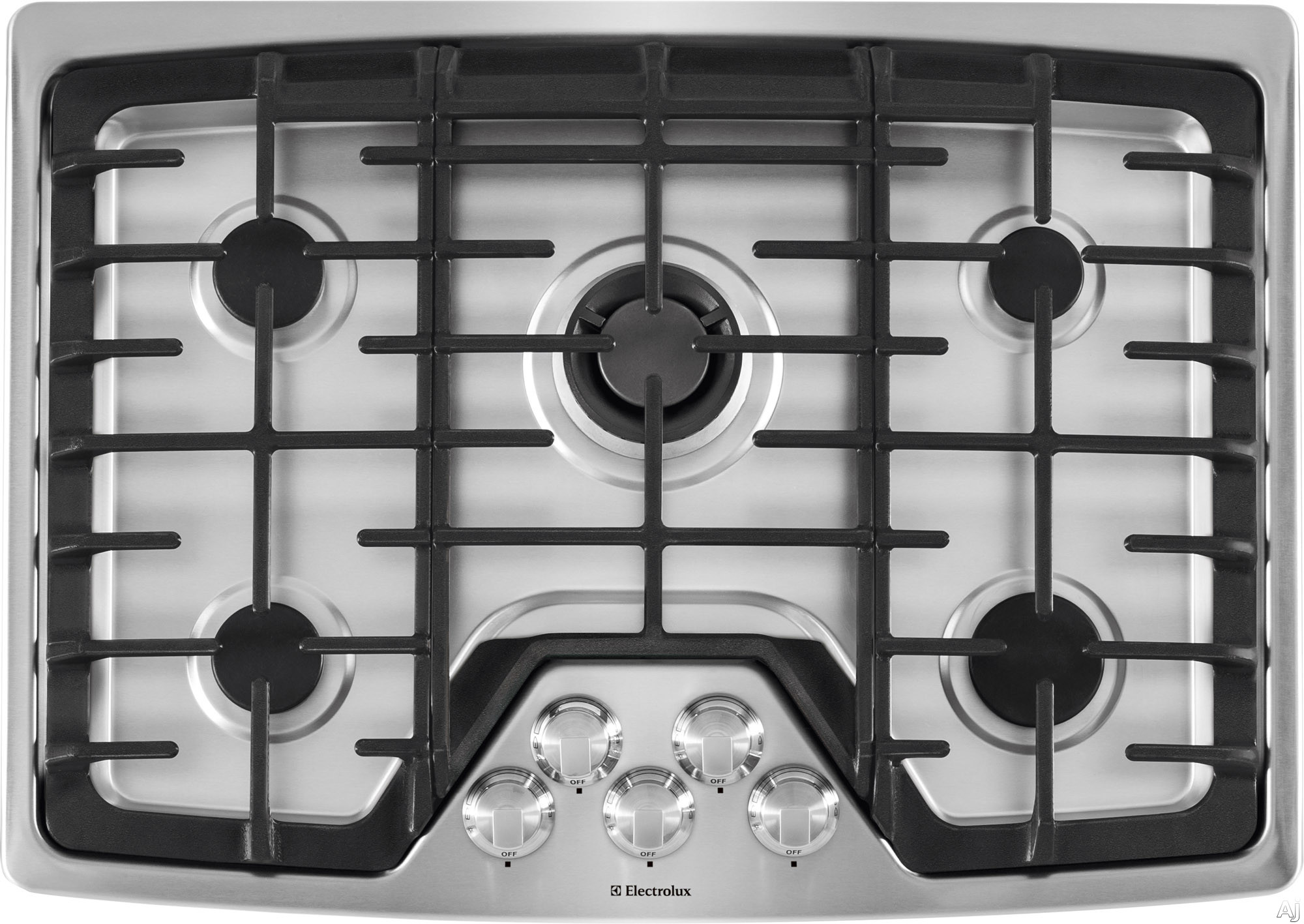 Electrolux EW30GC60PS 30 Inch Gas Cooktop with 5 Sealed Burners, 450 - 18,000 BTU Min-2-Max Burner, Professional-Grade Control Knobs, Continuous Grates and ADA Compliant Design