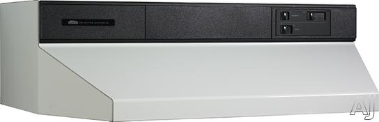 Broan 88000 Series 883601 36 Inch Under Cabinet Range Hood with 360 CFM Internal Blower and Standard Heat Sentry: White