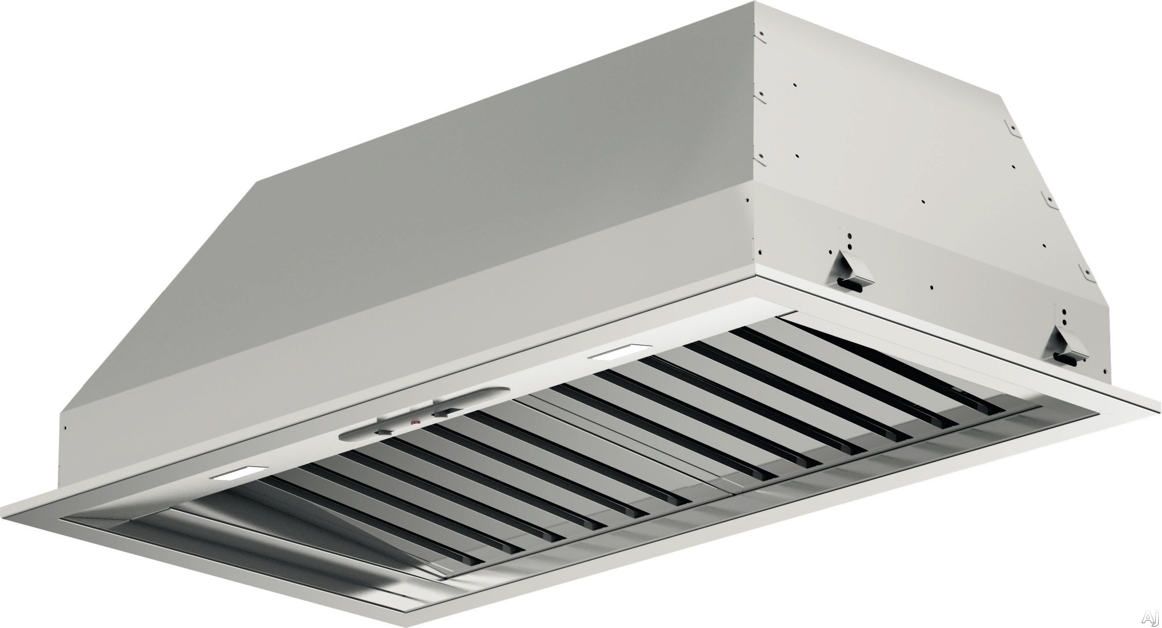 Fulgor Milano F6BP34S1 34 Inch Insert with 600 CFM Internal Blower Stainless Steel Baffle Filters Mechanical Controls 4 Speed Blower Fan LED Lighting and Recirculating Options