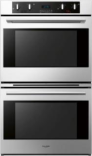 Fulgor Milano 600 Series F6DP30 30 Inch Double Electric Wall Oven with 41 cu ft Dual True European Convection Ovens Pyrolytic Self Clean 12 Cooking Functions Meat Probe and Telescopic Racks