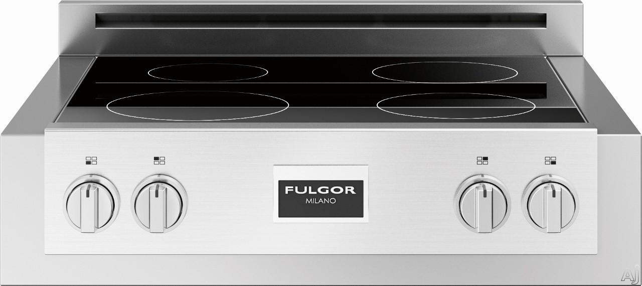 Fulgor Milano 600 Series F6IRT304S1 30 Inch Induction Rangetop with 4 Cooking Zones, LED Power Display, Boost Function, Residual Heat Light, Power-On Light, Melting Function, Warming Function, Pot Detection System and Child Lock Function