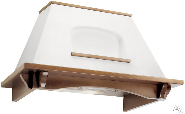 "Futuro Futuro Fairy Series WL36FAIRY 36"" Wall Mount Range Hood with 800 CFM Internal Blower, 3 Speed Slider Controls and Polished White Oak Bottom Frame: White"