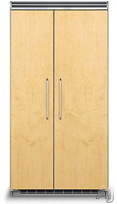 Viking Professional 5 Series FDSB5423 42 Inch Built-in Side by Side Refrigerator with 25.3 cu. ft. Capacity, Spillproof Adjustable Glass Shelves, Adjustable Aluminum Door Bins, 2 Humidity Zones, 2 Deli Drawers, Odor Eliminator Evaporator, Air Purifier, Sabbath Mode and ENERGY STAR: Panel Read