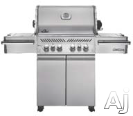 Napoleon Prestige PRO Series PRO500RSIBPSS1 67 Inch Freestanding Grill with 80,000 BTUs, 900 sq. in. Cooking Space, 6 Burners incl. 2 Infrared, JETFIRE Ignition, Rotisserie Kit, Ice Bucket and i-GLOW Backlit Control Knobs: Liquid Propane PRO500RSIBPSS1