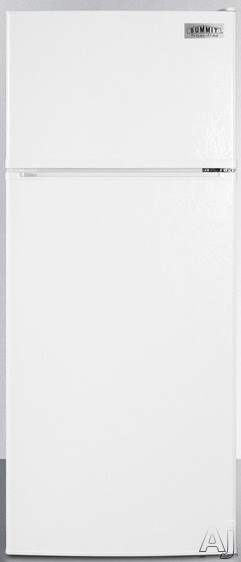 Summit FF1118W 24 Inch Counter Depth Top-Freezer Refrigerator with Adjustable Wire Shelves, Large Crisper, Interior Light, ADA Compliant, Door Storage and 10.3 cu. ft. Capacity: White, Energy Star