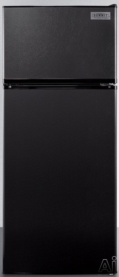 Summit FF1119B 24 Inch Counter Depth Top-Freezer Refrigerator with Adjustable Wire Shelves, Large Crisper, Interior Light, ADA Compliant, Door Storage and 10.3 cu. ft. Capacity: Black, Energy Star