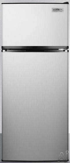 Summit FF1159SS 24 Inch Counter Depth Top-Freezer Refrigerator with Adjustable Wire Shelves, Large Crisper, Interior Light, ADA Compliant, Door Storage and 10.3 cu. ft. Capacity: Stainless Steel, Energy Star