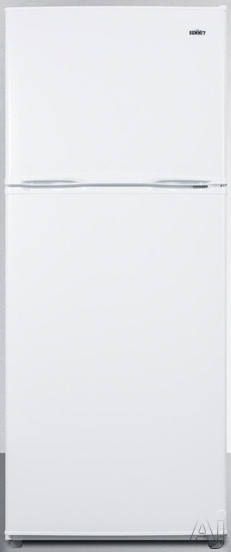 Summit FF1386W 24 Inch Top-Freezer Refrigerator with 11.5 cu. ft. Capacity, Adjustable Glass Shelves, Gallon Door Storage, 2 Clear Crispers, Interior Light, Adjustable Thermostat and Energy Star Rated: White