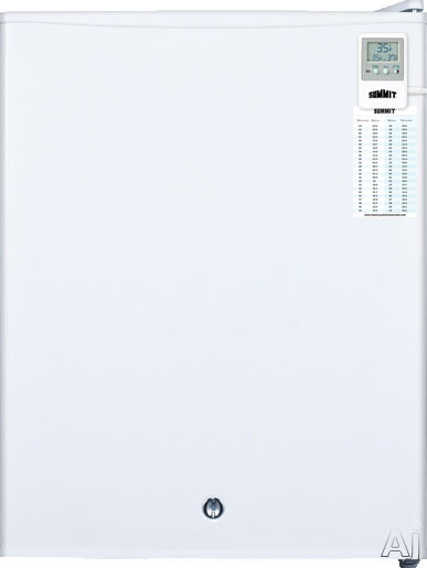 AccuCold FF28LWHMED 2.4 cu. ft. Compact Medical All-Refrigerator with Adjustable Wire Shelf, Automatic Defrost, Adjustable Thermostat, Flat Door Liner and Factory Installed Lock: MED Option FF28LWHMED