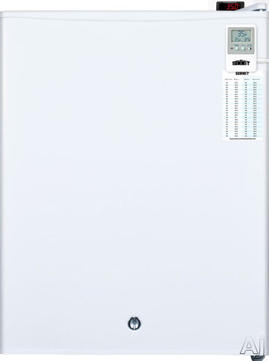 AccuCold FF28LWHMEDDT 2.4 cu. ft. Compact Medical All-Refrigerator with Adjustable Wire Shelf, Automatic Defrost, Adjustable Thermostat, Flat Door Liner and Factory Installed Lock: MEDDT Option FF28LWHMEDDT