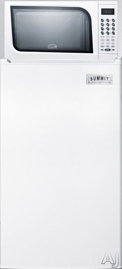 Summit MRF41ES 19 Inch Compact Refrigerator with 3.6 cu. ft. Capacity, 800W Microwave Oven, Adjustable Wire Shelving, Large Crisper, 3 Door Bins and 10A Power Allocator Box