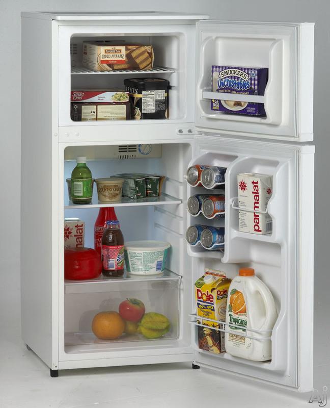 avanti ff45006w 4 3 cu ft top freezer refrigerator with. Black Bedroom Furniture Sets. Home Design Ideas