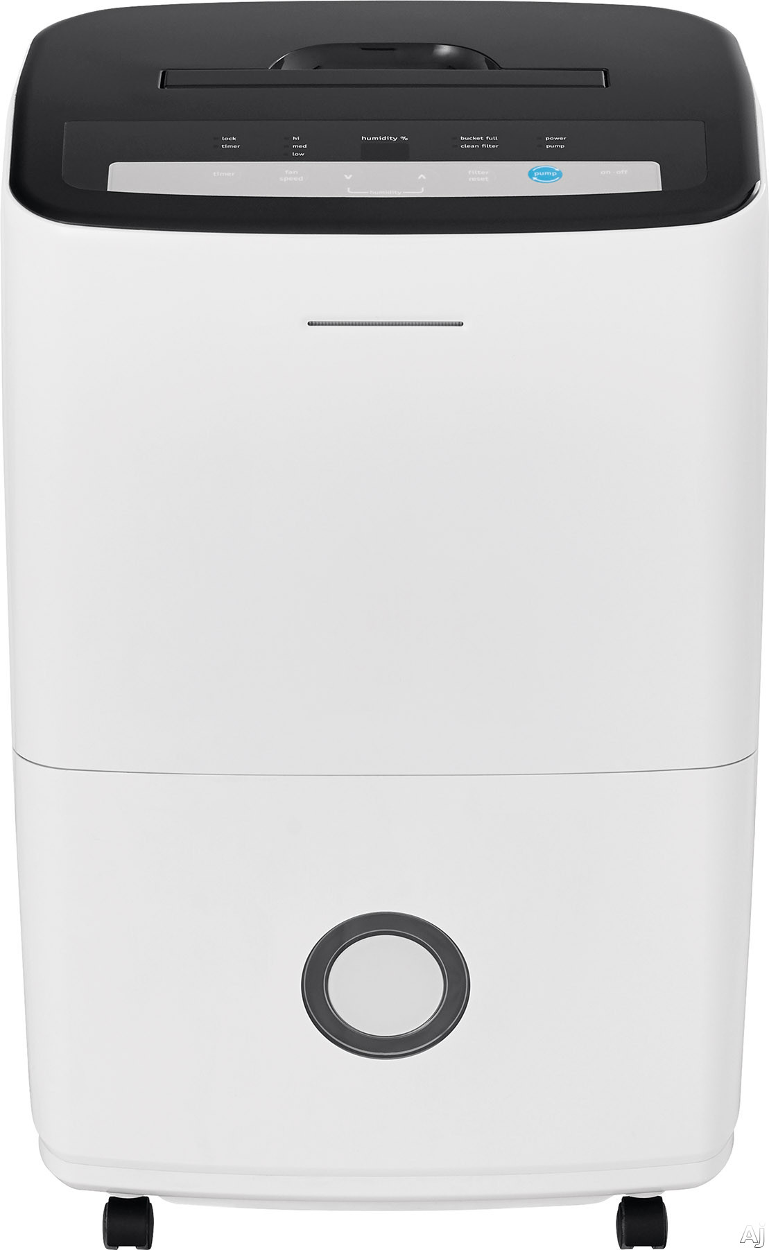 Frigidaire FFAP7033T1 70 Pint Capacity Dehumidifier with Effortless™ Humidity Control, Full Tank Alert, Automatic Shut-Off, Effortless™ Clean Filter, Continuous Drain Option, Low Temperature Operation and ENERGY STAR® Certified FFAP7033T1