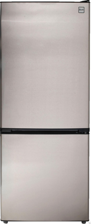 Avanti FFBM102D 10.2 cu. ft. Bottom Freezer Refrigerator with 2 Adjustable Glass Shelves, 1 Produce Drawer, 4 Door Bins, 1 Dairy Compartment, 1 Freezer Shelf, 1 Freezer Basket, Frost Free Operation and Energy Star Rating