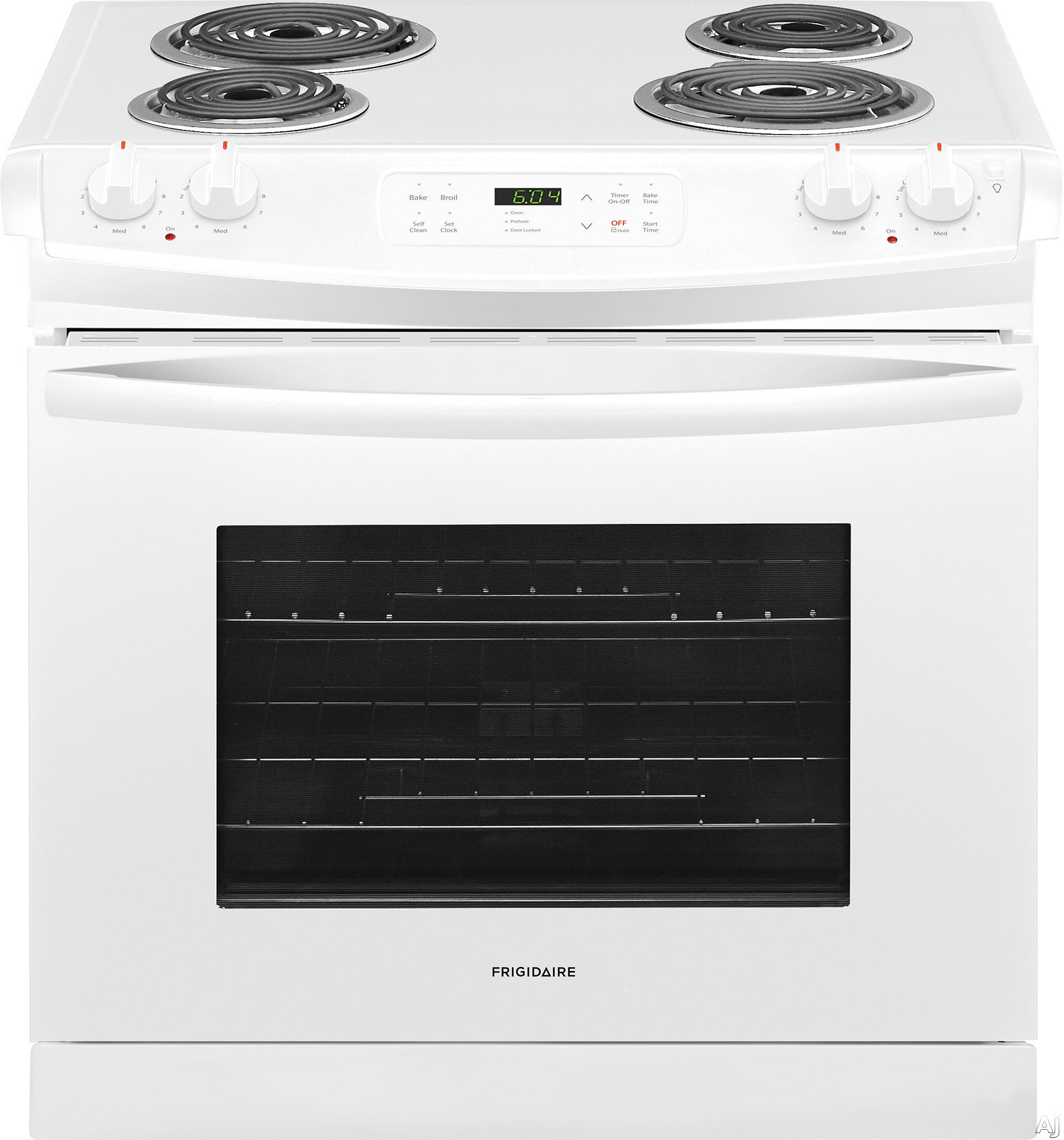 Frigidaire FFED3016TW 30 Inch Drop-In Electric Range with Vari-Broil™ Hi/Lo, Oven Auto Shut-Off, One-Touch Self Clean, Ready-Select® Controls, ADA Compliant and 4.6 cu. ft. Oven Capacity: Whi