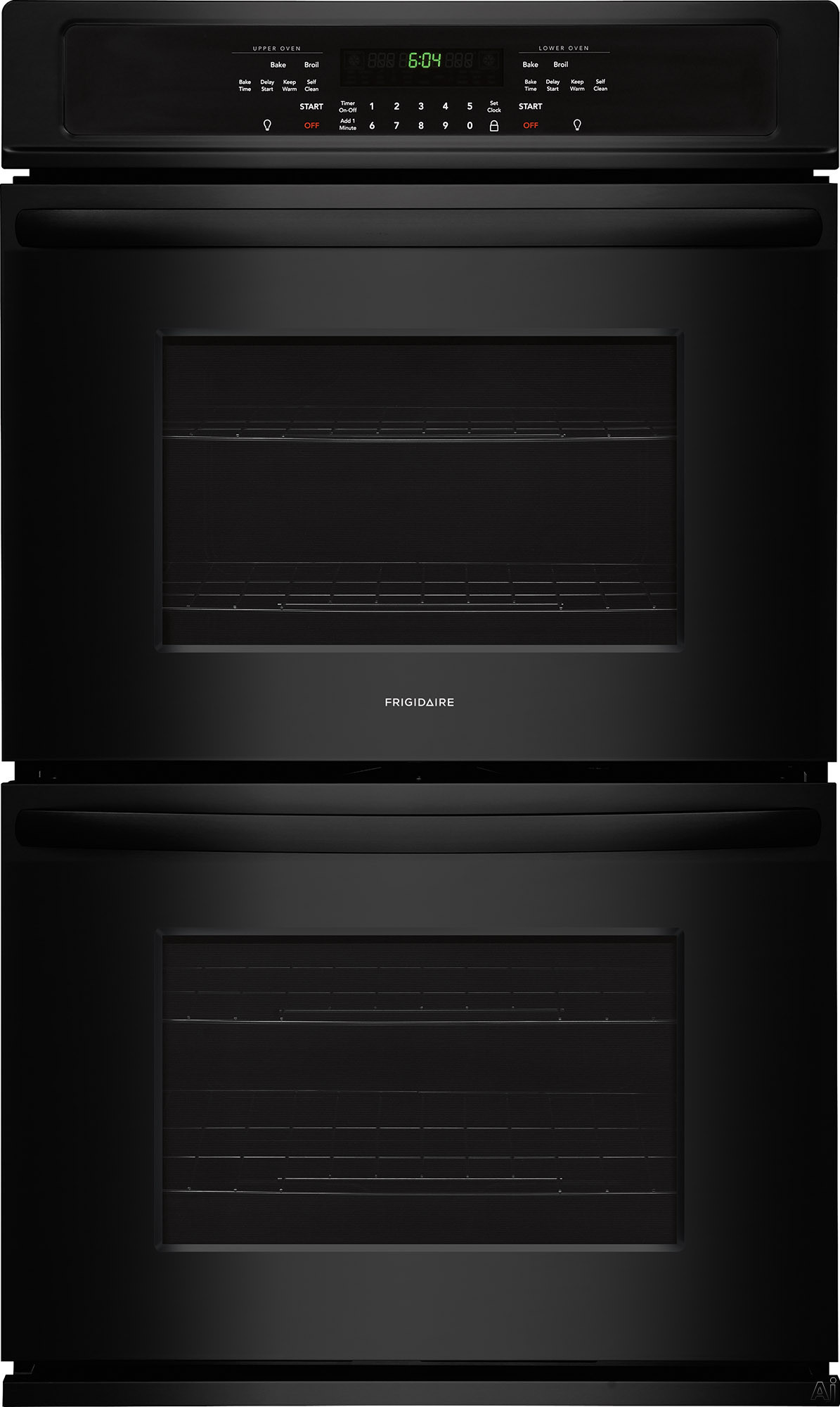 Frigidaire FFET2726TB 27 Inch Electric Double Wall Oven with Vari-Broil™ Temperature Control, Ready-Select® Controls, Even Baking Technology, Self-Cleaning, Delay Bake, Star-K® Certified S