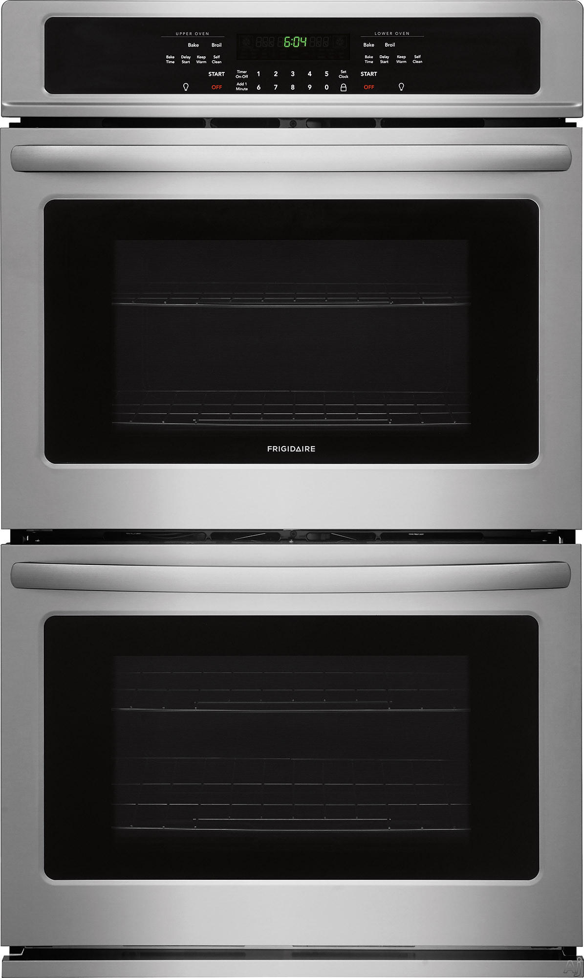 Frigidaire FFET2726TS 27 Inch Electric Double Wall Oven with Vari-Broil™ Temperature Control, Ready-Select® Controls, Even Baking Technology, Self-Cleaning, Delay Bake, Star-K® Certified S